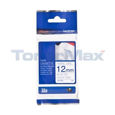 BROTHER TZ TAPE BLUE ON WHITE 12 MM X 3 M